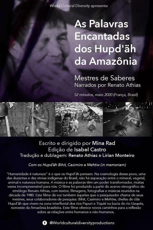 """10ème Festival International du Film Ethnographique de Recife: -Regardez le film en ligne et rejoignez le Live: """"Debating Ethnographic Memories Films"""" de 11h00 à 12h30, le mardi 27 avril. Inscrivez-vous au live inscricao@filmedorecife.com.br"""